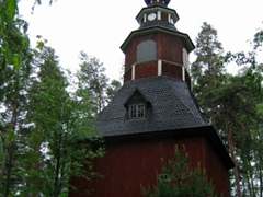 An old, wooden church; Seurasaari Open Air Museum