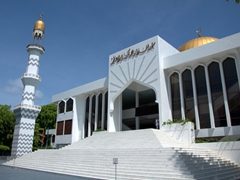 The Grand Friday Mosque is an unmistakable symbol for the city of Malé
