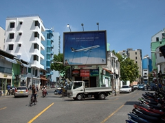 A Y-intersection in busy Malé