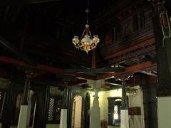 The interior of Malé's Hukuru Miskiiy (Old Friday) circa 1656 Mosque is famed for its fine wood carvings