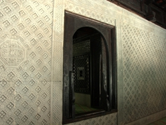 Intricately carved coral stone walls of Malé's Hukuru Miskiiy (Old Friday) Mosque