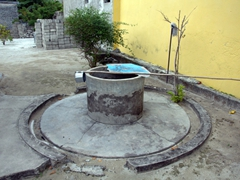 A traditional well; Dhigurah Island