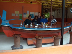 Robby joins the MV Stingray crew at their hangout on Dhigurah Island
