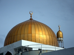 The golden dome of Malé's Grand Friday Mosque & Islamic Center