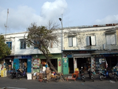 Typical stores lining the Malé waterfront