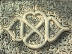 Ornate coral carving at the Old Friday Mosque (Hukuru Miskiiy) in Male
