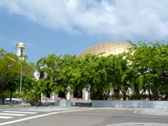 The mosque in Hulhumale, a reclaimed island in the Kaafu (North Male) Atoll