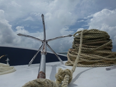 The anchor for our liveaboard, MV Stingray