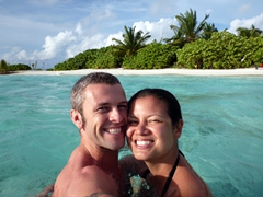 Two lovebirds in paradise; Raidhiga Island