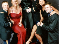 John, Jessica, Meredith, Joe, Becky & Robby at the 141 Signal Ball in Wiesbaden, Germany