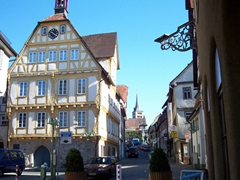 "The date on the building reads ""1592"". This was the former town hall of Sindelfingen and is now a museum"