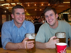 John boy and Robby smile while they are still sober!