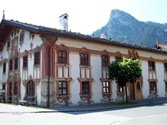 The colorful frescoes really add character to the homes and business buildings of Oberammergau