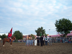 Barb and Steve get married at their Rodeo Wedding; Stuttgart's Robinson Barracks