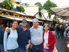Becky, Robby, Bill and Laverne get ready to have fun at the Stuttgart Wine Festival