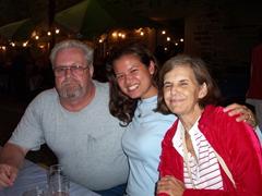 Bill, Becky and Laverne enjoy themselves at the annual September Stuttgart Wine Festival in downtown Stuttgart