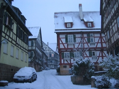 Winter in Germany is especially beautiful, with pristine snow covering everything in sight