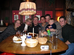 We joined John Burns and his family for a delicious dinner in downtown Wiesbaden