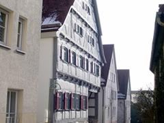 Our pretty half-timbered home in Sindelfingen