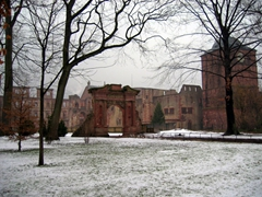 A frosty morning's visit to the Heidelberg Castle