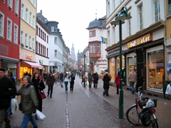 The Fussganger Zone (Pedestrian Zone) of Heidelberg is a shopper's delight