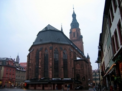 The Church of the Holy Spirit is the most famous church in Heidelberg and dominates the old city center