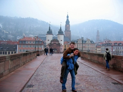 Jim and Becky on Heidelberg's Old Bridge