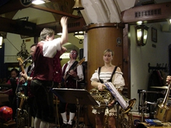 An Oom-pah Band playing at the Hofbrau haus in downtown Munich