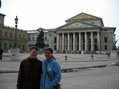 Jim and Becky strike a pose in downtown Munich