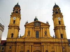 St Kajetan (Theatinerkirche) Church is a fine example of Italian Baroque architecture; Munich