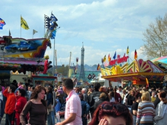 The Cannstatter Volksfest is a lively time to be in Stuttgart...the Cannstatter Wasen occurs from the end of September to the beginning of October, while the Spring fest is a more subdued and smaller version...good times to be had at both festivals!
