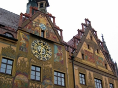 View of an astronomical clock dating from 1520; Ulm