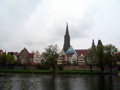 View of Ulm as seen from the Danube River