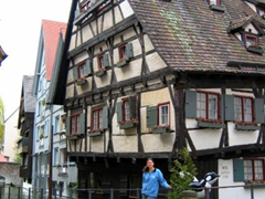Ulm's fischerviertel (fishermen's quarter) on the Blau River is full of half-timbered houses, cobble stoned streets, and quaint footbridges