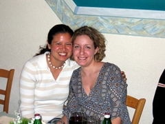 Becky & Maria at one of our favorite restaurants in Stuttgart