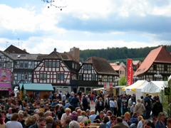 A large crowd gathers for Erbach's spring festival