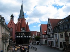The town of Michelstadt is one of Germany's prettiest. It is a well preserved, medieval old town with a charming town square