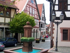 We wandered around Michelstadt's charming downtown and enjoyed the historic buildings