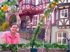 Becky fell in love with Miltenberg's gorgeous old town market area. It really is a pretty section of Germany