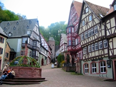 Miltenberg is a charming, old-world town with a gorgeous central square