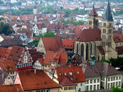 Close up view of Esslingen's Frauenkirche (Church of our Lady) Cathedral