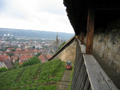 We had a fantastic panorama view of Esslingen from this lookout point at Esslingen Burg (castle)