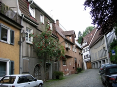 Parking in Esslingen was a bit tricky, but we found two free spots on this back alley road