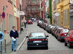 Finding street parking in downtown Heidelberg requires a lot of luck, skill and patience!