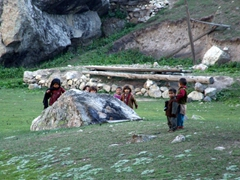 The children of Fairy Meadows check us out in curiosity