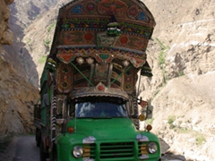 There is barely enough room for a typical jingle truck on this narrow road...somehow Jan made driving past them look easy!