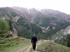 Robby is happy to see that we are almost at our final destination, Fairy Meadows