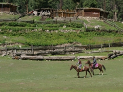 Polo is a big deal here at Fairy Meadows and the entire village stops to watch an impromptu match