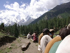 Spectators at the Fairy Meadows polo match