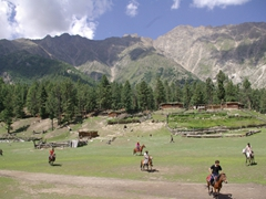 "We had seen several polo matches in Northern Pakistan, but this one wins hands down for the ""prettiest"" setting"